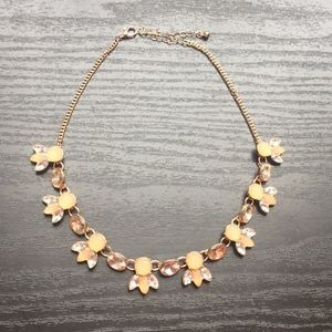 Jewelry - Pale Pink and Gold Statement Necklace
